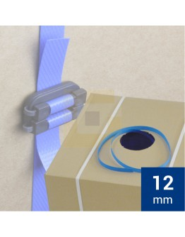 PP Band 12mm blauw 1000mtr dispenserdoos