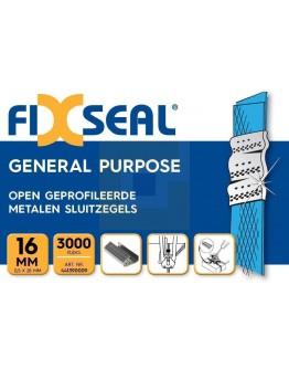 Metalen sluitzegels FIXSEAL geprofileerd 16mm, doos 3000 st.