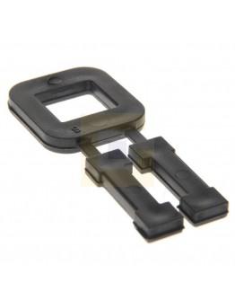 FIXCLIP kunststof gespen 13mm zwart, 1000 st.