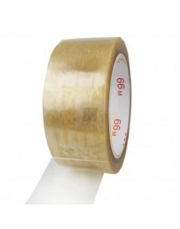 PVC solvent tape 48mm/66m transparant