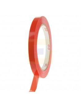 Zakkensluiter tape PVC rood 9mm