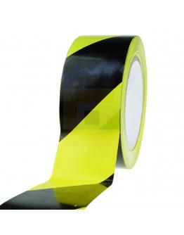 Vloermarkeringstape PVC geel/zwart 50mm/33m 150my