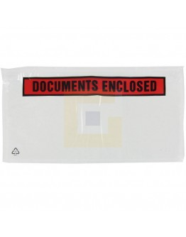 "Documenthoezen ""Documents enclosed"" DL 1/3-A4 225x122mm 1.000 stuks"