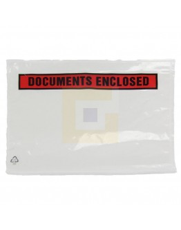 "Documenthoezen ""Documents enclosed "" A5 225x165mm 1.000 stuks"