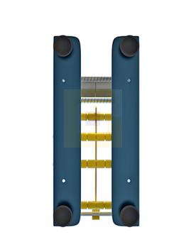 Etiketrolhouder metaal 1-vaks 77mm