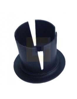 Kunststof doppen zwart 50mm