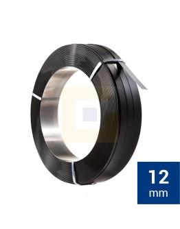 Staalband omsnoering AW 12mm, Zwart gelakt