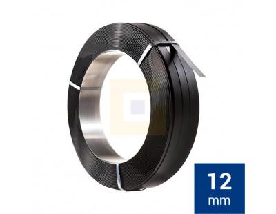 Staalband omsnoering AW 12mm, Zwart gelakt Omsnoeringsband