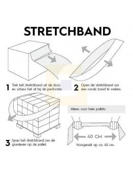 Stretchband - Palletelastiek van folie - 100 x 1200mm - Box 100st.