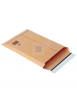 Golfkarton-envelop bruin 335 x 500 x (-) 28mm, uitvouwbaar