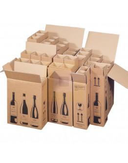 Wijnflesdoos voor 2 flessen 204x108x368mm