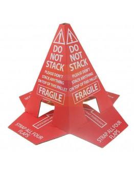 """Anti-stapelhoedje Pallethoedje """"Do not Stack"""" Zelfklevend"""
