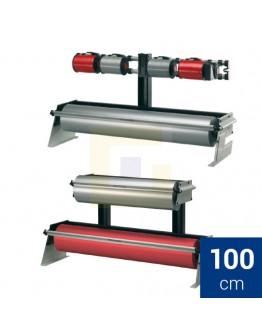 Rolhouder 100cm Rocholz ZAC tafel/ondertafel voor papier + folie