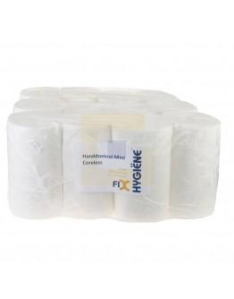 Handdoekrol FIX-HYGIËNE Mini coreless cellulose, 120m - 12 rollen