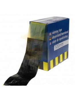 Afzetlint zwart-geel 75mm x 500m, 35my