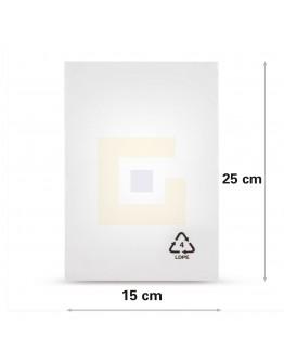 Vlakke zak LDPE, 15x25cm, 50my - 4000x