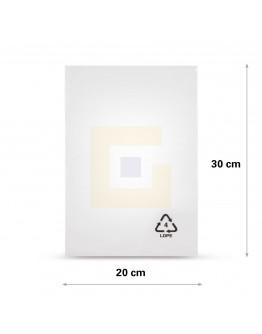 Vlakke zak LDPE, 20x30cm, 50my - 2000x