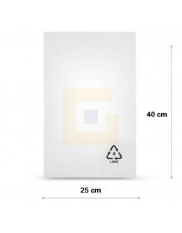 Vlakke zak LDPE, 25x40cm, 25my - 2000x