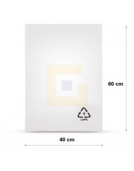 Vlakke zak LDPE, 40x60cm, 50my - 1000x