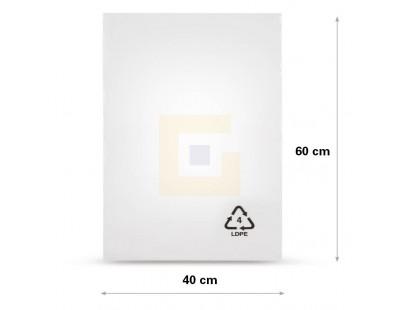 Vlakke zak LDPE, 40x60cm, 50my - 1000x Folie producten divers