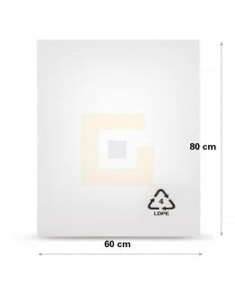 Vlakke zak LDPE, 60x80cm, 50my - 300x
