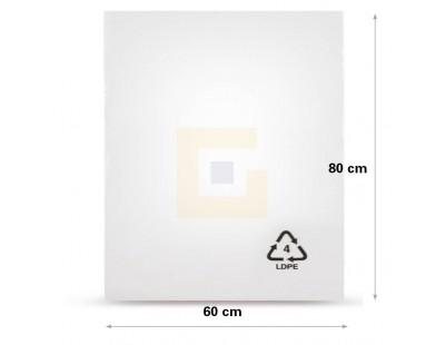 Vlakke zak LDPE, 60x80cm, 50my - 300x Vlakzakken LDPE