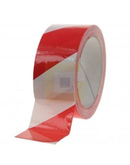 Vloermarkeringstape 115my PVC rood/wit