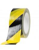 Vloermarkeringstape Ducttape geel/zwart 50mm/33m  Tape - Plakband