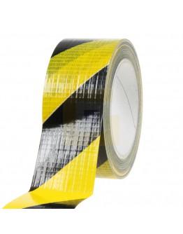 Vloermarkeringstape Ducttape geel/zwart 50mm/33m