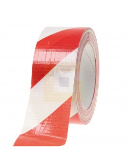 Vloermarkeringstape Ducttape  Rood/wit, 50mm/33m