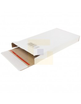 e-Com® Mailbox-3, A6+, 125x28x160mm EG Wit, +2x plakstrip