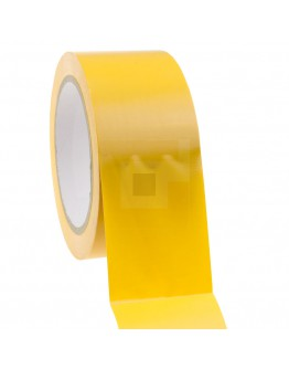 Bouwtape PVC geel 50mm/33m, 150my