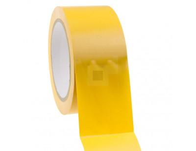 Bouwtape PVC geel 50mm/33m, 150my Tape - Plakband