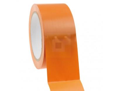 Bouwtape PVC oranje 50mm/33m, 150my Tape - Plakband